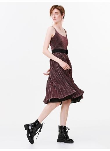 Twist Elbise Pembe